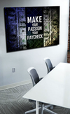Business Wall Art: Make Your Passion Your Paycheck (Wood Frame Ready To Hang)
