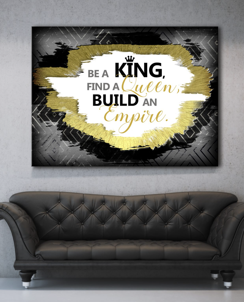 Business Wall Art: King And Queen Empire (Wood Frame Ready To Hang)