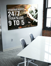 Business Wall Art: Hustle 24/7 Canvas (Wood Frame Ready To Hang)