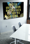 Business Wall Art: Hustle Until Your Haters Ask If You Are Hiring (Wood Frame Ready To Hang)