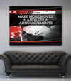 Business Wall Art: Poker Make More Moves (Wood Frame Ready To Hang)