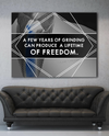 Business Wall Art: Grinding Lifetime Of Freedom (Wood Frame Ready To Hang)