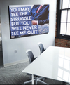 Business Wall Art: Struggle Never Quit (Wood Frame Ready To Hang)