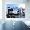 Business Wall Art: Estate Agent Hustle Art (Wood Frame Ready To Hang)