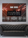 Business Wall Art: Success Quotes (Wood Frame Ready To Hang)