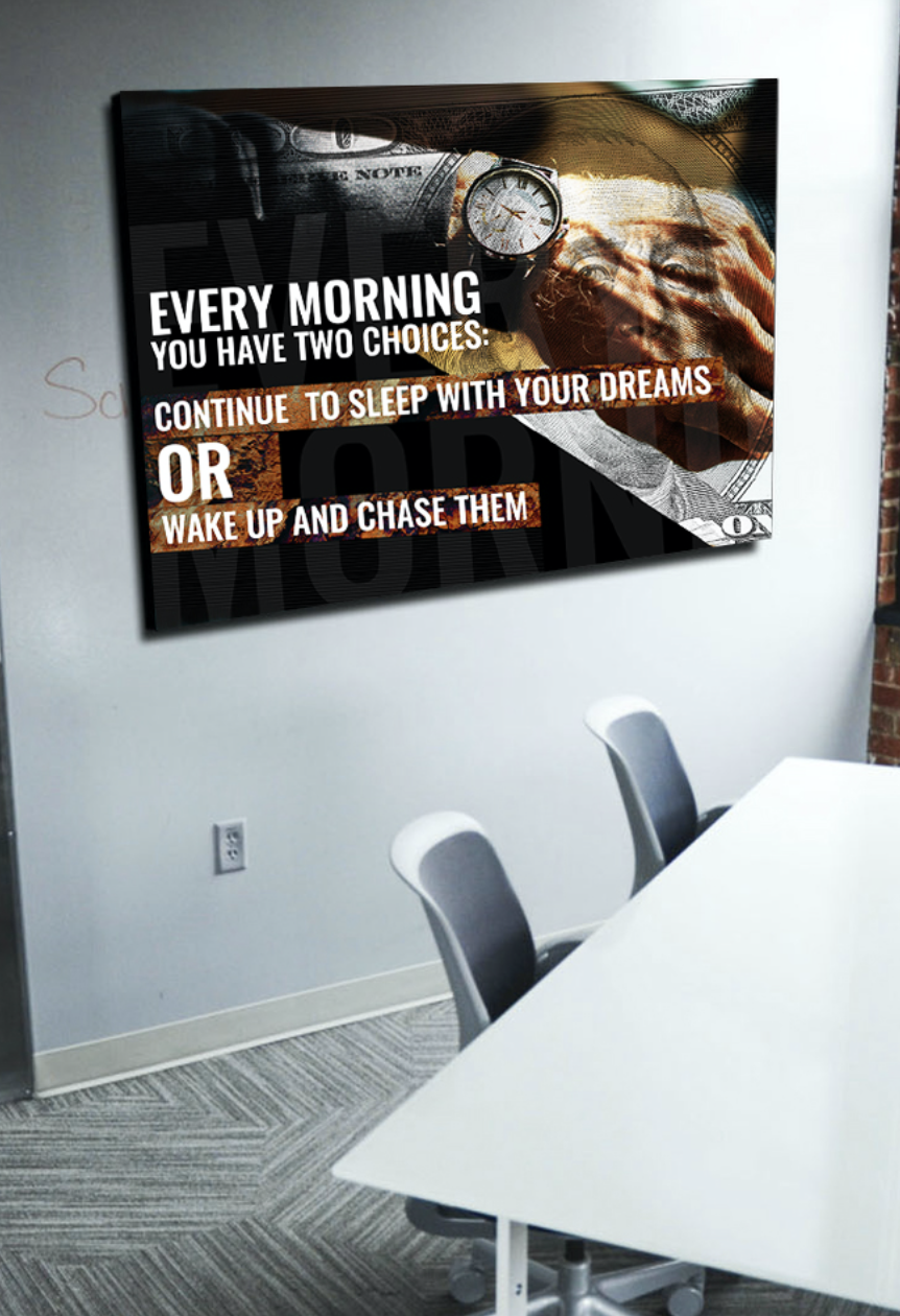 Business Wall Art: Two Choices (Wood Frame Ready To Hang)