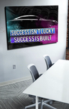 Business Wall Art: Success Isn't Luck (Wood Frame Ready To Hang)