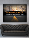 Business Wall Art: Look Forward Canvas (Wood Frame Ready To Hang)