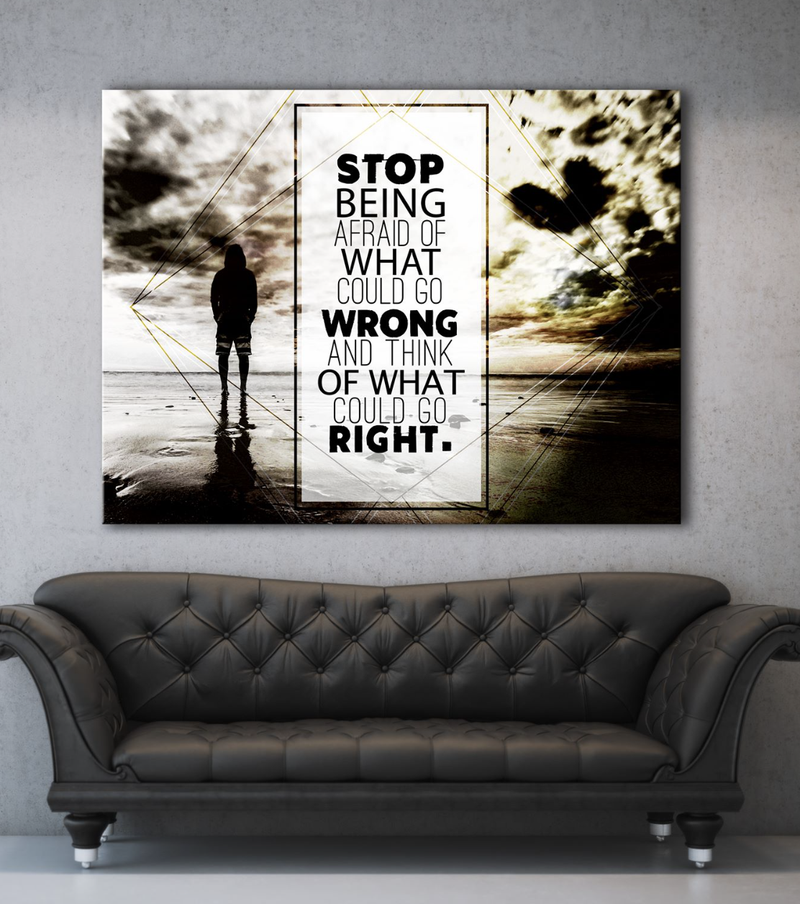 Business Wall Art: What Could Go Right Canvas (Wood Frame Ready To Hang)