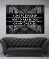 Business Wall Art: Live To Succeed Stunning Canvas (Wood Frame Ready To Hang)