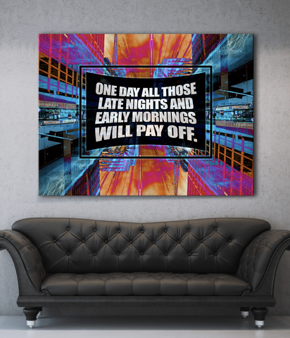 Business Wall Art: Pay Off Stunning Canvas (Wood Frame Ready To Hang)