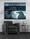 Home Wall Art: Winter Is Coming Crow Canvas (Wood Frame Ready To Hang)
