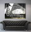 Business Wall Art: Money Quote Wall Art (Wood Frame Ready To Hang)
