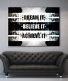 Business Wall Art: Dream It Believe It (Wood Frame Ready To Hang)