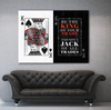 Business Wall Art: King Of All Trades Wall Art (Wood Frame Ready To Hang)