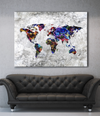 Home Wall Art: The World Wall Art (Wood Frame Ready To Hang)