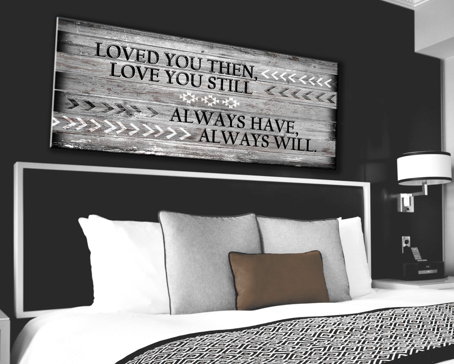 Bedroom Decor Wall Art: Love You Still Large Wall Art 2 Sizes Available  (Wood Frame Ready To Hang)