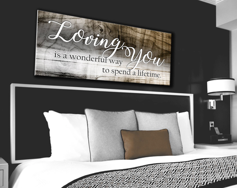 Bedroom Decor Wall Art: Loving You A Lifetime