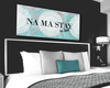 Image of Bedroom Decor Wall Art: Namaste In Bed Wall Art  (Wood Frame Ready To Hang)