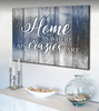Image of Home Decor Wall Art: Home Is Where My Crazies Are Wall Art (Wood Frame Ready To Hang)
