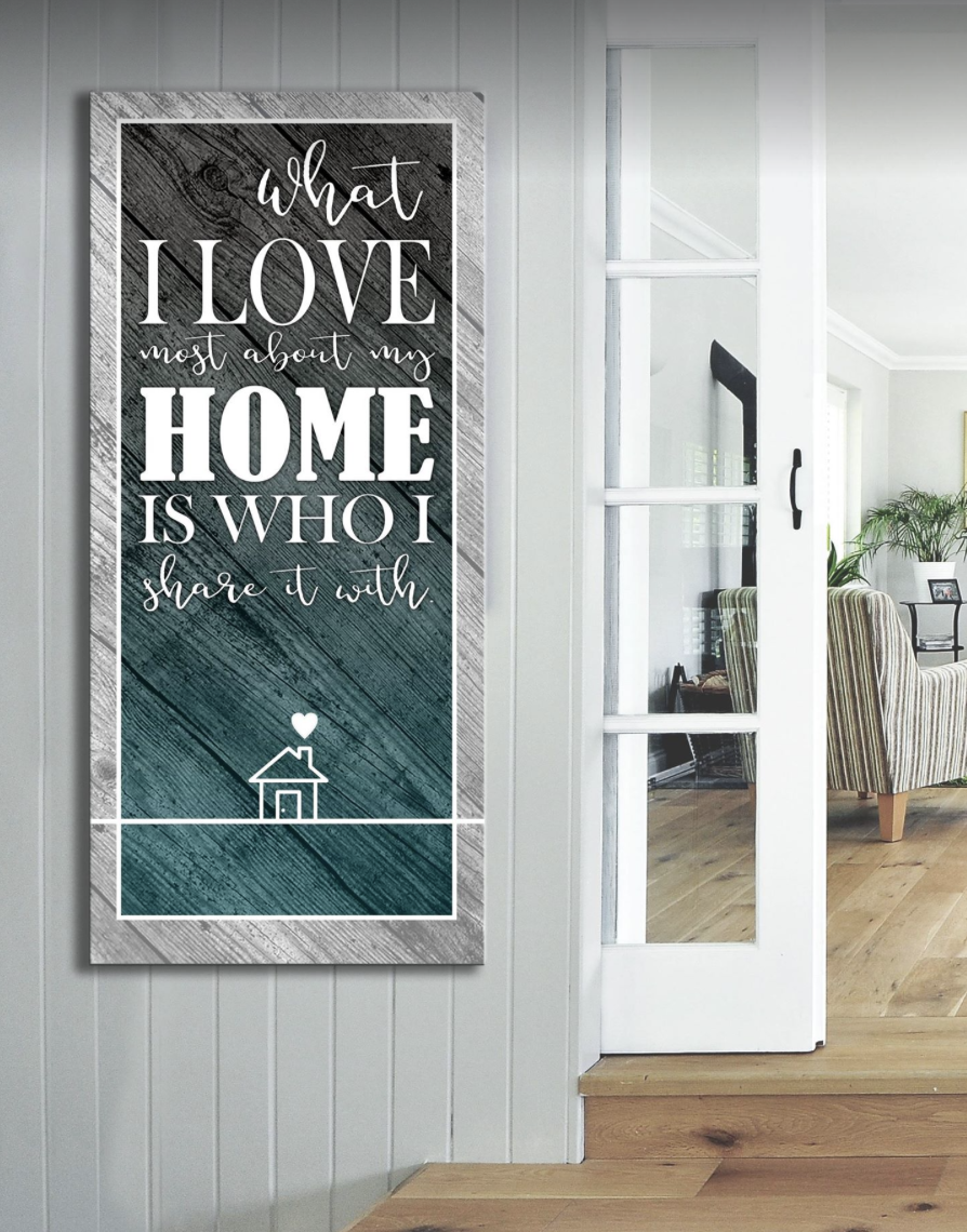 Home Decor Wall Art: I Love My Home Wall Art (Wood Frame Ready To Hang)