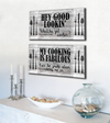 Kitchen Wall Art: Kitchen Wall Art Funny 2 Piece Set (Wood Frame Ready To Hang)
