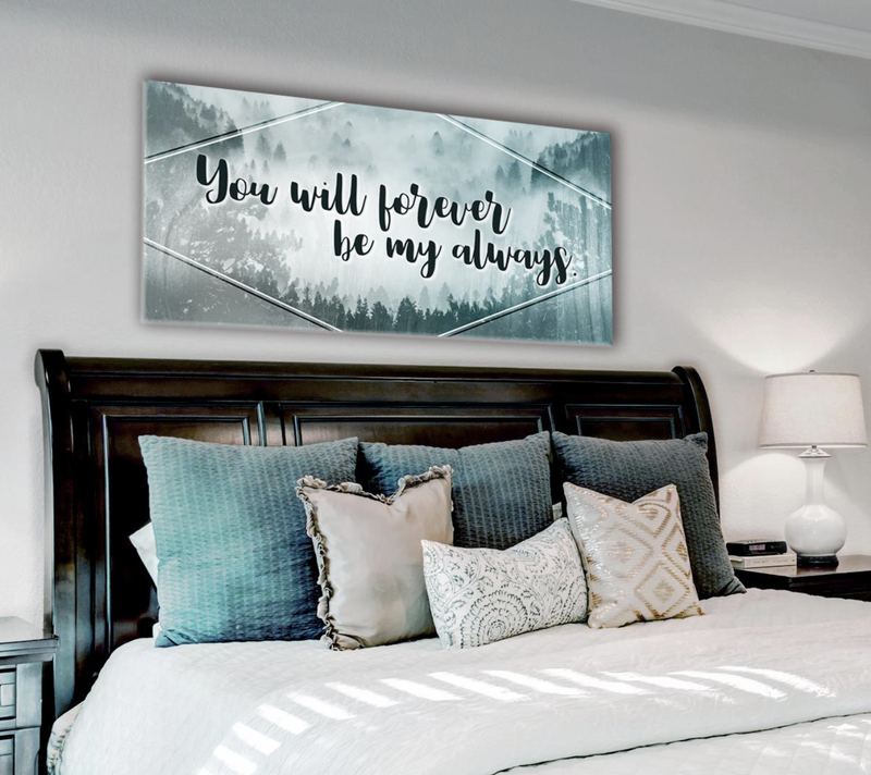 Bedroom Wall Art: Be My Always Wall Art 2 Sizes Available (Wood Frame Ready To Hang)