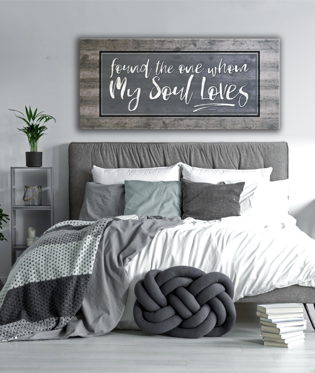 Bedroom Wall Art: The One Wall Art 2 Sizes Available (Wood Frame Ready To Hang)