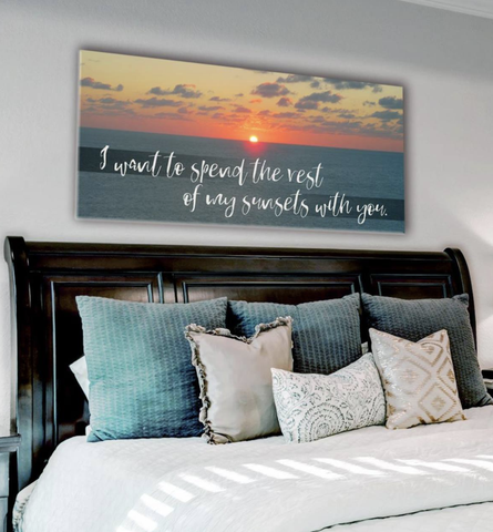 Bedroom Decor Wall Art: Sunrise  Large Wall Art 2 Sizes Available  (Wood Frame Ready To Hang)