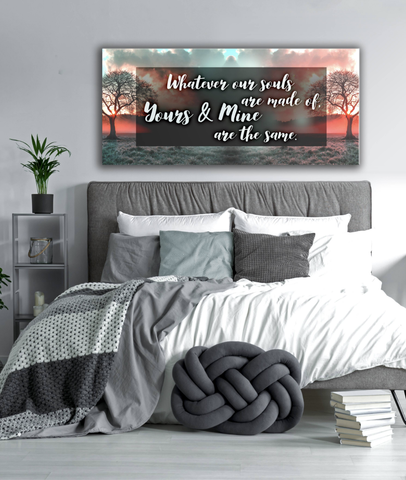 Bedroom Decor Wall Art: Souls Made Of  (Wood Frame Ready To Hang)