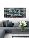 Home Wall Art: Family is where life begins and love never ends (Wood Frame Ready To Hang)