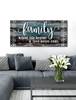 "Image of Home Wall Art: Home Wall Art ""Family is where life begins and love never ends"" (Wood Frame Ready To Hang)"