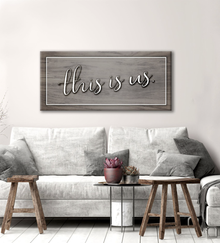 Living Room Home Decor Wall Art This Is Us V2 Wood Frame Ready To
