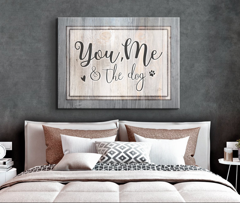 Pet Wall Art: You Me & The Dog V2 (Wood Frame Ready To Hang)