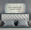 Couples Wall Art: Best Friends For Life Husband & Wife