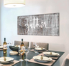 Image of Kitchen Decor Wall Art: Gather Wall Art (Wood Frame Ready To Hang)