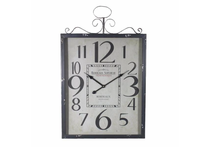 Wall Clock: Monochrome Metal Wall Clock