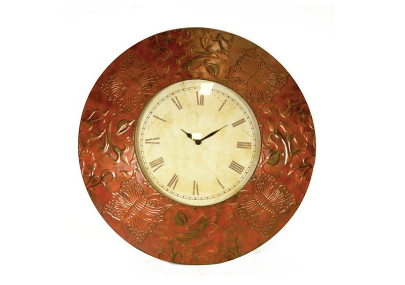 Wall Clock: Antique Metal Wall Clock