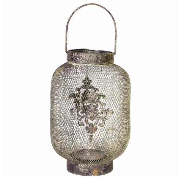 Candle: Mesh Netted Ophira Golden Hanging Candle Lantern