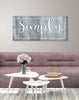 Image of Home Decor Wall Art: Simply Blessed (Wood Frame Ready To Hang)