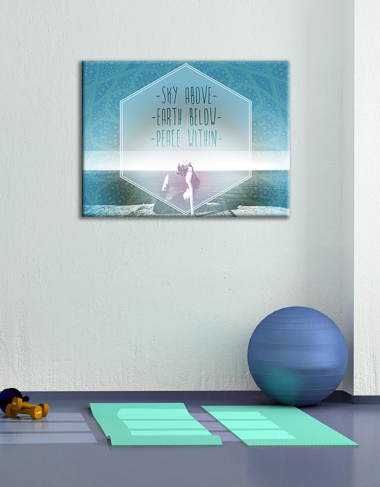 Fitness Wall Art: Sky Above (Wood Frame Ready To Hang)