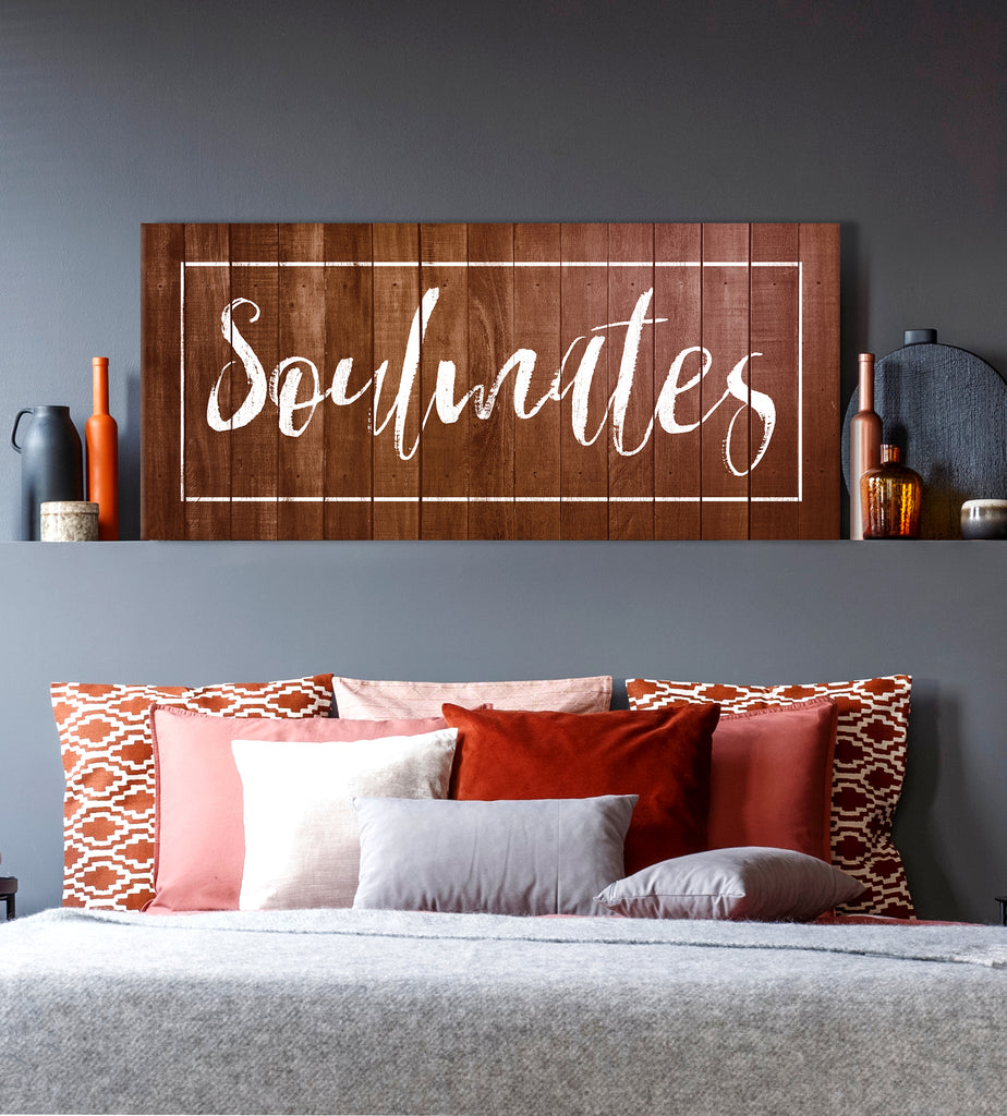 Bedroom Wall Art: Soulmates Wall Art (Wood Frame Ready To