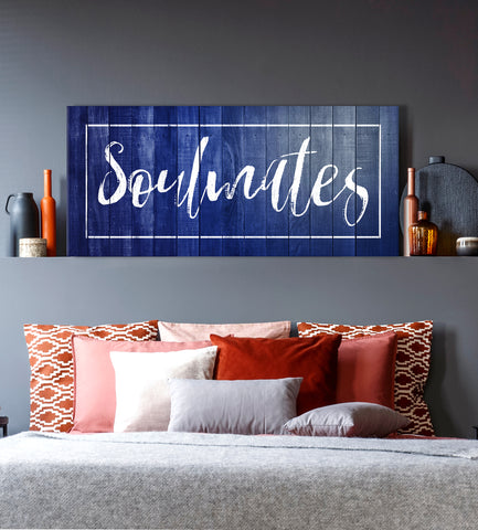 Bedroom Wall Art: Soulmates Wall Art (Wood Frame Ready To Hang)