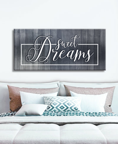 Bedroom Wall Art: Sweet Dreams V3 (Wood Frame Ready To Hang)