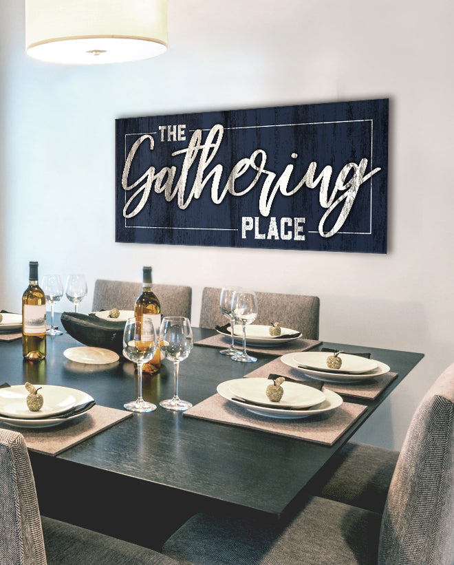 Kitchen Wall Art: The Gathering Place (Wood Frame Ready To Hang)