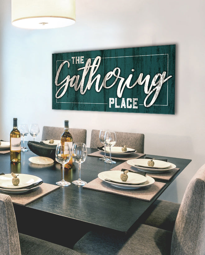 Kitchen Wall Art The Gathering Place Wood Frame Ready To Hang Sense Of