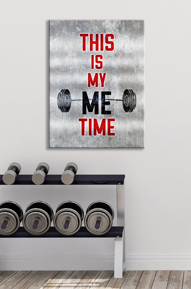 Fitness Wall Art: This is my ME time (Wood Frame Ready To Hang)