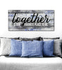 Image of Couples Wall Art: Together is our fav place to be (Wood Frame Ready To Hang)
