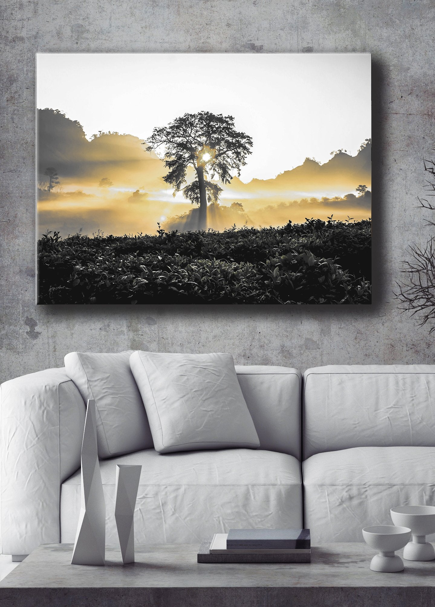 Nature Wall Art: Tree Sunlight (Wood Frame Ready To Hang)