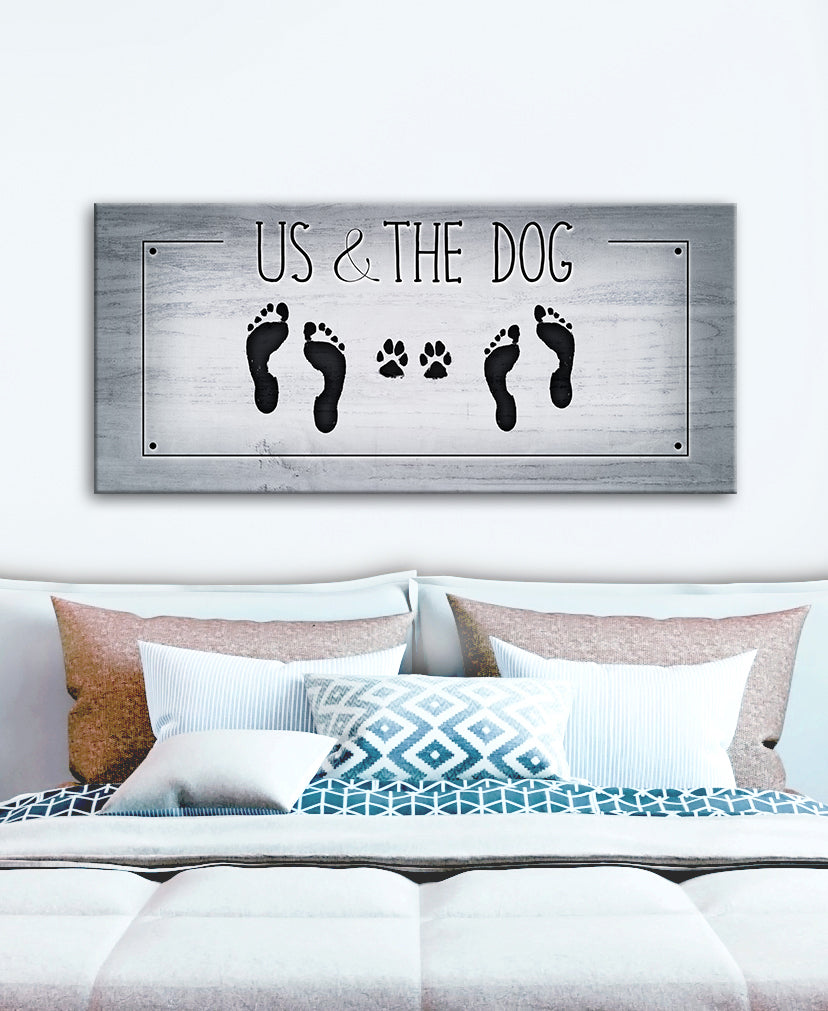 Pet Wall Art: Us and the Dog (Wood Frame Ready To Hang)